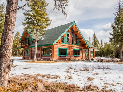 Tek Ailelik Ev for sales at Extraordinary Home on 10 Acres 397 Robbe Way Eureka, Montana 59917 Amerika Birleşik Devletleri