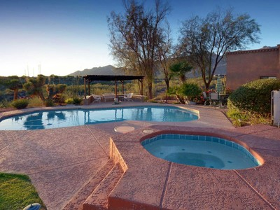 Single Family Home for sales at Stunning Panoramic Mountain Views On An Extraordinary Private 1.26 Acre Lot 5663 N Pontatoc Road Tucson, Arizona 85718 United States