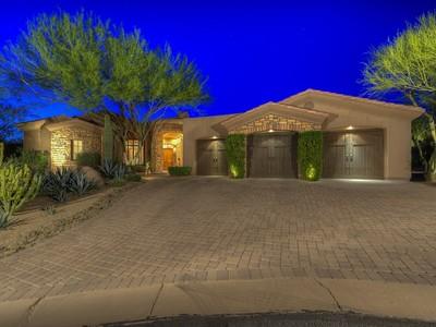 Villa for sales at Stunning Custom Home On A Premium Cul-de-sac Lot In The Monument At Troon North 9902 E Monument Drive Scottsdale, Arizona 85262 Stati Uniti