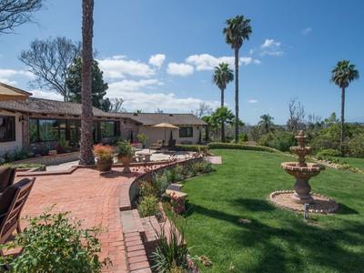 Maison unifamiliale for sales at 16810 Via De Santa Fe   Rancho Santa Fe, Californie 92067 États-Unis