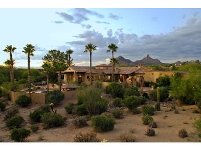 Casa Unifamiliar for sales at Fabulous French Mediterranean Estate on 2.2 Acres in North Scottsdale 9910 E Pinnacle Peak Rd  Scottsdale, Arizona 85255 Estados Unidos