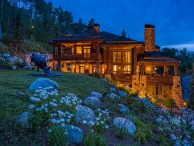 Einfamilienhaus for sales at Custom Log and Stone Residence in Beaver Creek 201 Borders Road Beaver Creek, Colorado 81620 Vereinigte Staaten