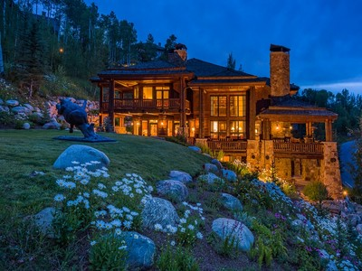 Single Family Home for sales at Custom Log and Stone Residence in Beaver Creek 201 Borders Road Beaver Creek, Colorado 81620 United States
