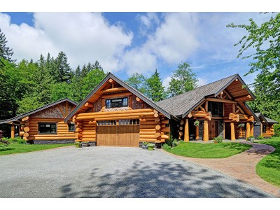 Nhà ở một gia đình for sales at French Country Style Log Home 11143 Hynes Street Maple Ridge, British Columbia V2W1Y6 Canada