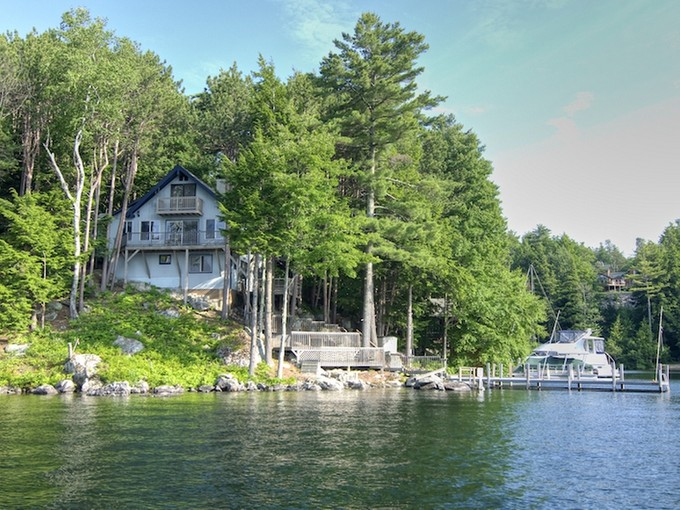 Single Family Home for sales at Lakefront Multi-Level 14 Mill Cove Road Alton, New Hampshire 03809 United States