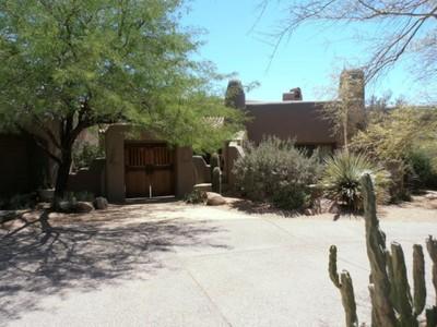 Maison unifamiliale for sales at One of a Kind Santa Fe 10067 E GOLF TRL Scottsdale, Arizona 85262 États-Unis