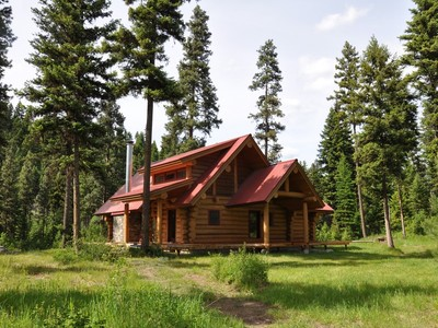 Tek Ailelik Ev for sales at Custom Log Home 962 Elk Creek Road Libby, Montana 59923 Amerika Birleşik Devletleri