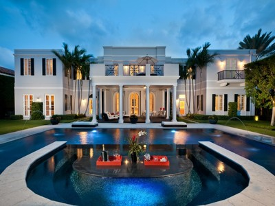 Maison unifamiliale for sales at Sophisticated Regency Estate 695 S County Rd  Palm Beach, Florida 33480 États-Unis