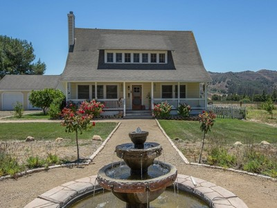 Farm / Ranch / Plantation for sales at Early California Farmhouse 5510 Campbell Road Lompoc, California 93436 United States