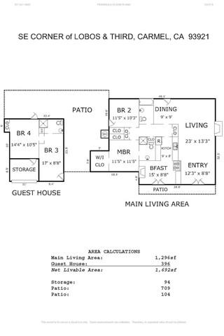 0 3rd Avenue, Se Corner Of Lobos Street Carmel By The Sea California 93921  Single Family Homes for Sale