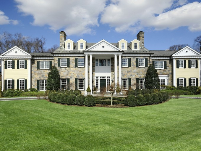 Single Family Home for sales at Stunning In-Town Georgian Manor 15 Knollwood Drive Greenwich, Connecticut 06830 United States