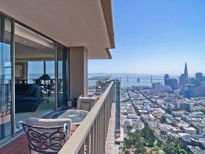 Condominium for sales at Spectacular Russian Hill View Condo 999 Green St Apt 3004  San Francisco, California 94133 United States