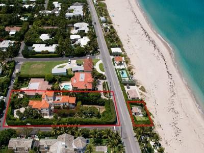 Casa para uma família for sales at Enchanting Oceanfront Estate 1250 N Ocean Blvd Palm Beach, Florida 33480 Estados Unidos