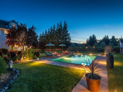 Single Family Home for sales at Stately Farmhouse-Style Retreat 215 Adobe Canyon Road Kenwood, California 95452 United States