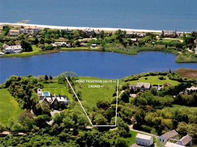 Terreno for sales at Georgica Pondfront Lot With Permits 11 Chauncey Close   East Hampton, New York 11937 Stati Uniti