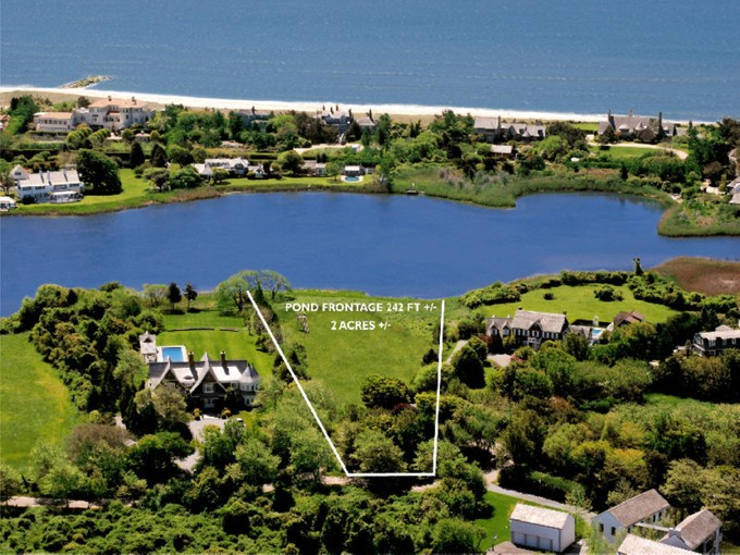Terrain for sales at Georgica Pondfront Lot With Permits 11 Chauncey Close   East Hampton, New York 11937 États-Unis