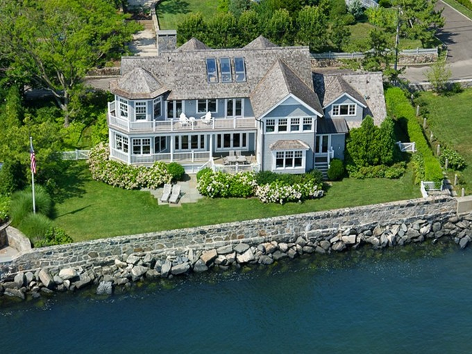 Single Family Home for sales at Spectacular Waterfront in Old Greenwich 15 East Point Lane Old Greenwich, Connecticut 06870 United States
