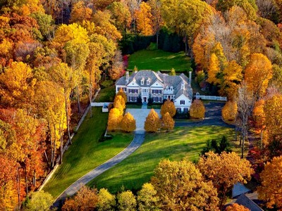 Single Family Home for sales at Round Hill Georgian 44 Close Road  Greenwich, Connecticut 06831 United States