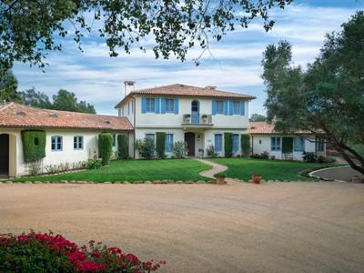 Vivienda unifamiliar for sales at French Mediterranean-Style Estate 715 Ladera Lane Montecito, California 93108 Estados Unidos