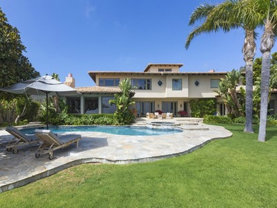 Maison unifamiliale for sales at Spectacular Mediterranean Villa 5857 Murphy Way  Malibu, Californie 90265 États-Unis