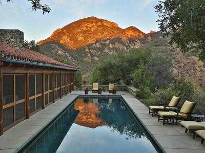 Частный односемейный дом for sales at Country-French Historical Home 32063 Lobo Canyon Road  Agoura, Калифорния 91301 Соединенные Штаты