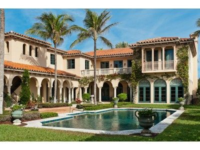 Maison unifamiliale for sales at Unsurpassed Elegance 110 Clarendon Ave  Palm Beach, Florida 33480 États-Unis
