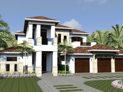 Maison unifamiliale for sales at THE MOORINGS 875  Wedge Dr Naples, Florida 34103 États-Unis