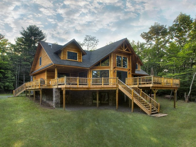 Maison unifamiliale for sales at Adirondack Lodge at the Chapin Estate 222 Sunset Pt Bethel, New York 12720 États-Unis