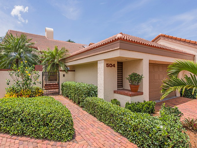 Townhouse for sales at PELICAN BAY - BAY VILLAS 504  Bay Villas Ln Naples, Florida 34108 United States