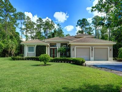 Maison unifamiliale for sales at OAKES ESTATE-OAKES ESTATE 5741  English Oaks Ln  Naples, Florida 34119 États-Unis