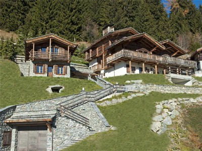 Single Family Home for sales at Elegant chalet with old timber mazot and clear vie  Verbier, Valais 1936 Switzerland