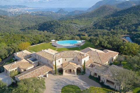 Single Family Home For At Magnificent Provencal Domain With Views Over The Bay Of Cannes