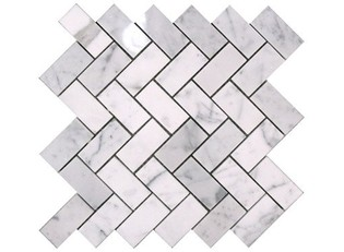 Carrara Bianco Honed Herringbone