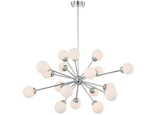 Possini Euro Design Opal Glass Pendant Chandelier