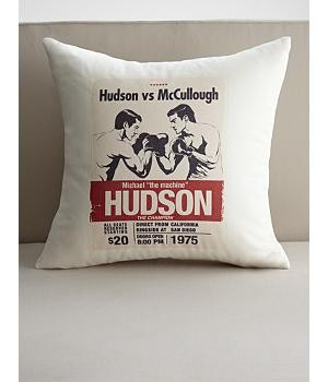 personalized boxing match throw pillow cover