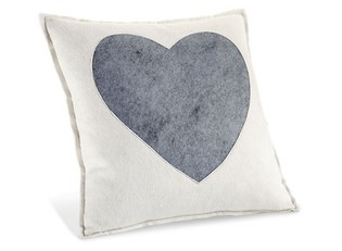 Ivory Heart Pillow