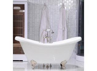 Hotel Collection Double Slipper Clawfoot Tub & Fau