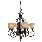 Russel Collection Light Single Tier Chandelier