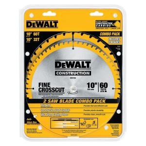DEWALT 10 in. Circular Saw Blade Assortment 2 Pack