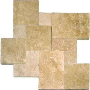 MS International Travertine Tumbled Paver Kits