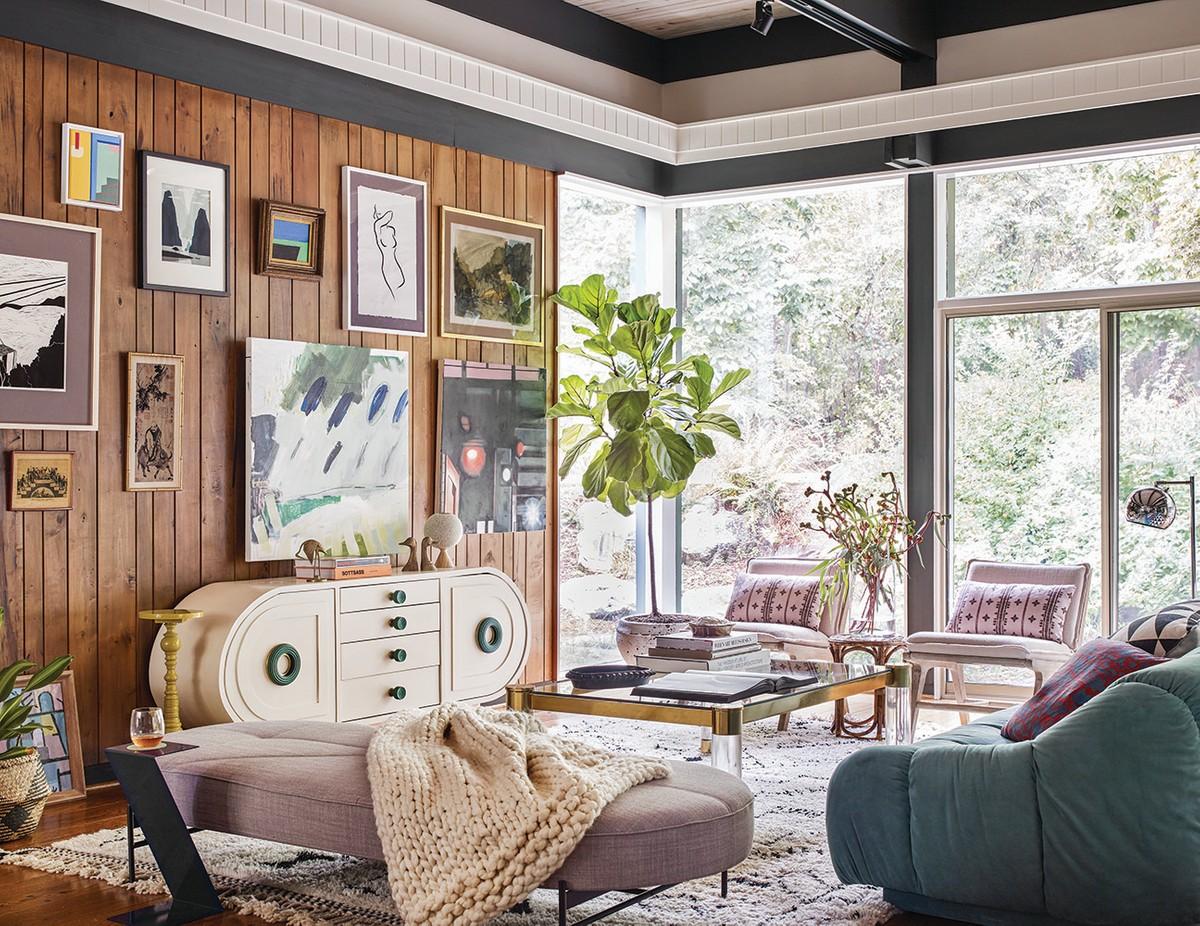 A living room designed by Jessica Davis
