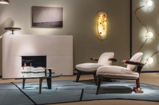 Achille Salvagni, who designed the room below, says tactile elements can complete and transform a room into a warm, inviting space