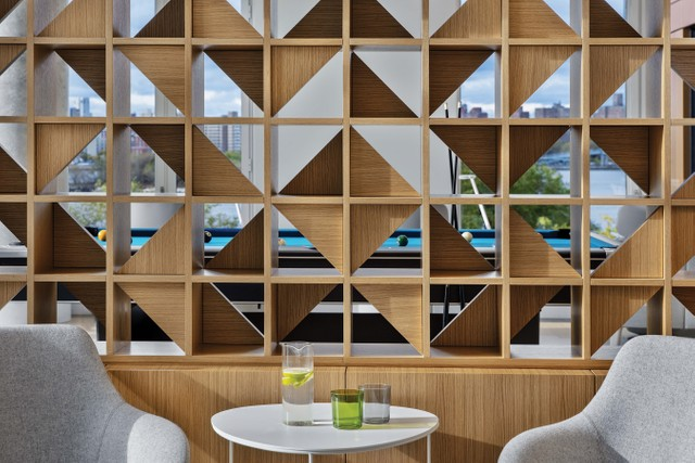 A lounge area by New York-based Elisabeth Post-Marner