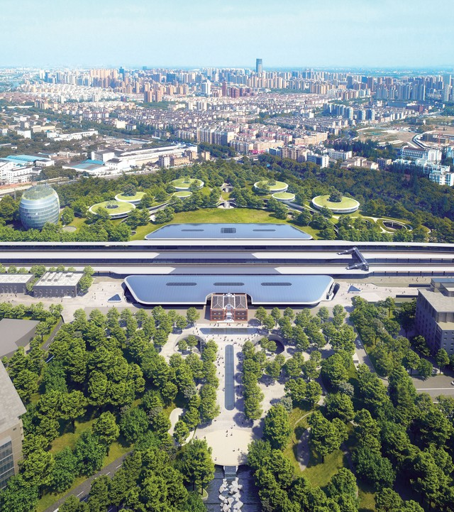 The latest project from MAD Architects in Jiaxing, China, feels like a futuristic space station