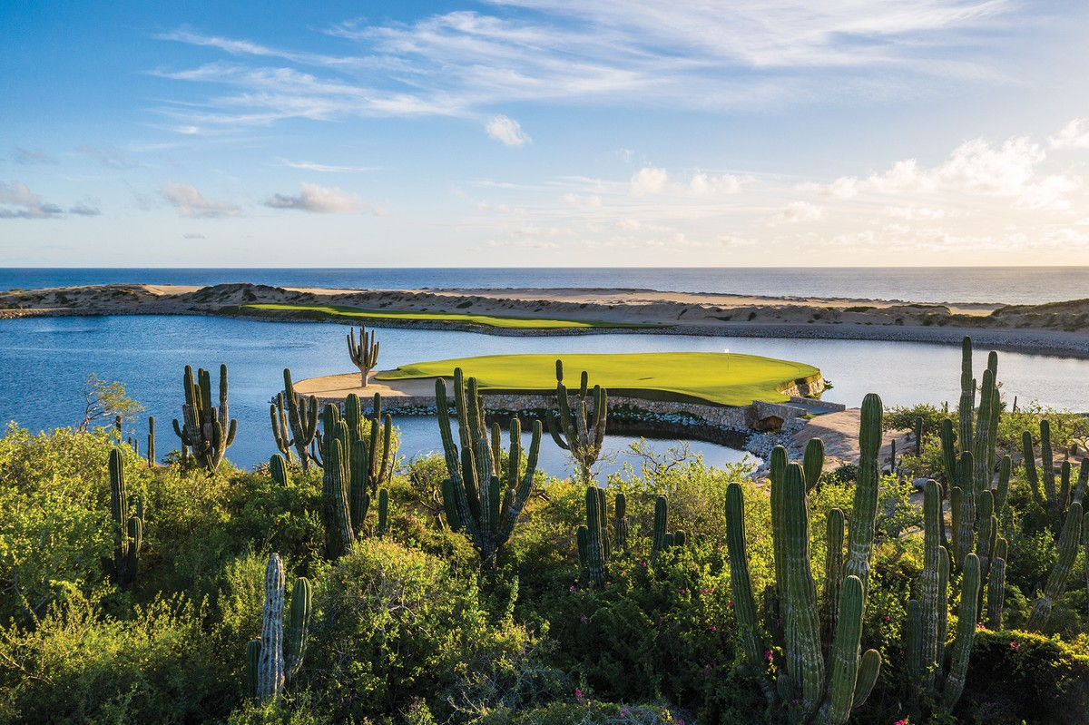 The Greg Norman Signature golf course at Rancho San Lucas has an oceanfront location away from the hustle and bustle of Cabo San Lucas