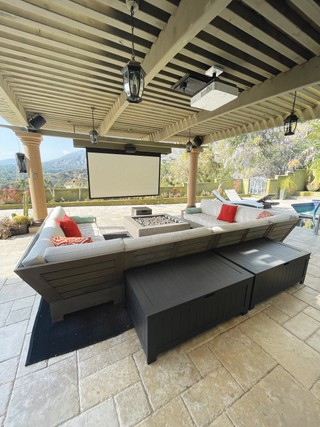 Backyard Theater and Living Room
