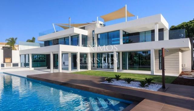 Moderne villa à vendre avec piscine, vue mer, Vale do Lobo, Algarve ...