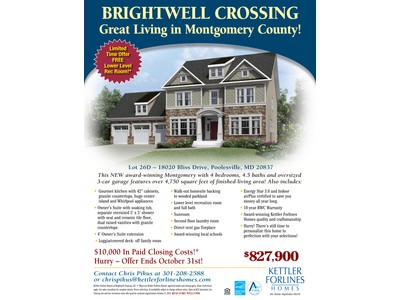 Single Family for sales at 98405-Brightwell Crossing 18020 Bliss Drive Poolesville, Maryland 20837 United States